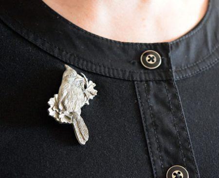 Cardinals pewter pin