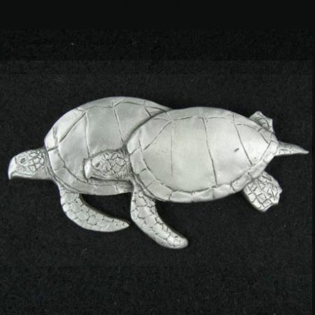 Sea Turtles Pewter Pin