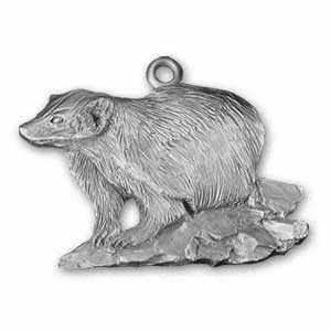 Badger Pewter Ornament