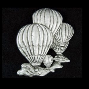 Balloons Pewter Pin