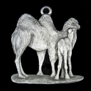 Camel pewter ornament