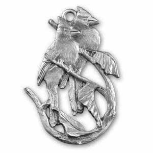 Cardinal pewter ornament