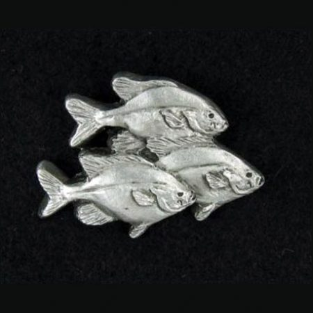 Pewter Fishes Pin