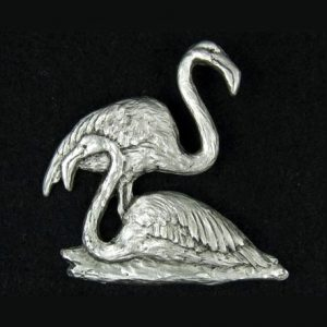 Flamingo pewter lapel pin