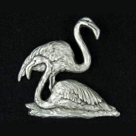 Flamingo pewter lapel pin