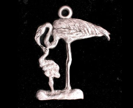 Flamingo Pewter Ornament