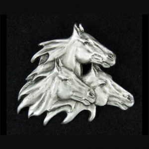 Horses Pewter Pin