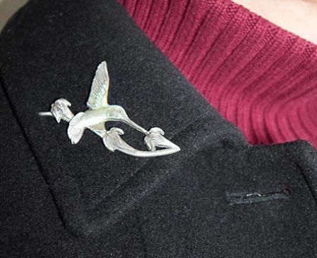 Hummingbird Pewter Pin