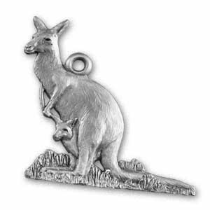 Kangaroo pewter ornament