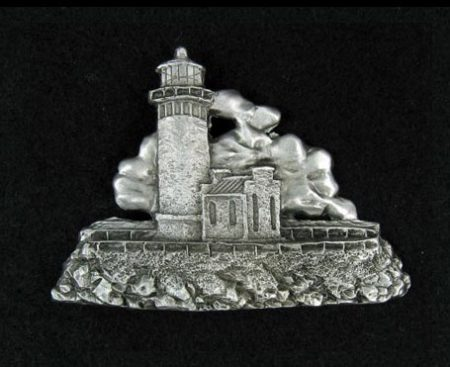 Lighthouse Pewter Pin