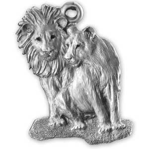African Lions ornament
