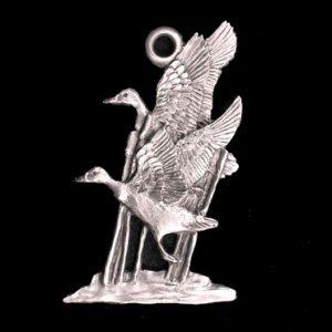 Mallard Ducks Pewter Ornament