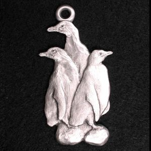Humboldt Penguins Pewter Ornament