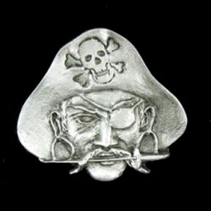 Pirate Head Pewter Pin