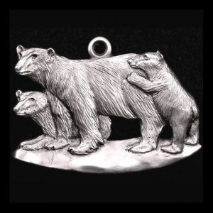 Polar Bear Pewter Ornament