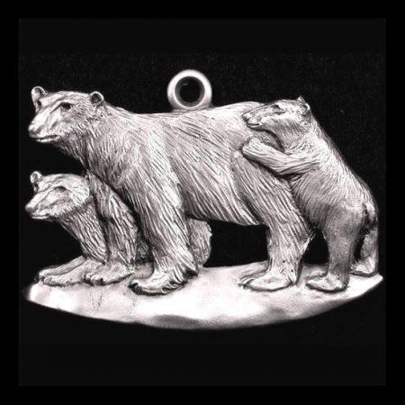 Polar Bear Pewter Ornament