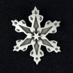 Snowflake Pewter Pin