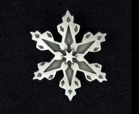 Snowflake Pewter Pin