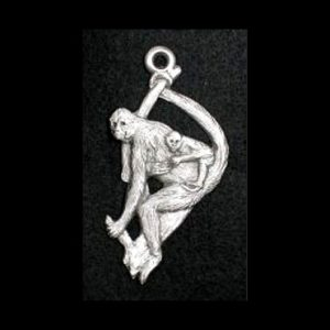 Spider Monkey Pewter Ornament