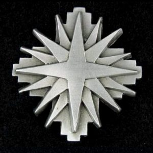beautiful Star Pewter Pin