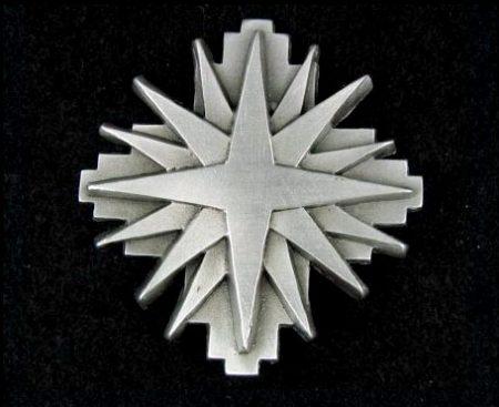 beautiful Star Pewter Pin