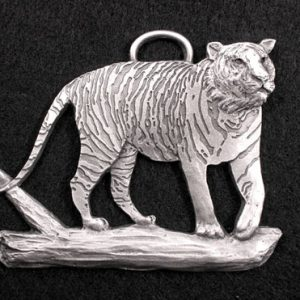 Handcrafted Pewter Tiger Ornament