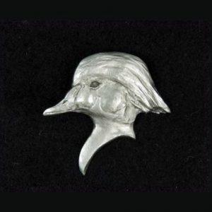Wood duck lapel pin