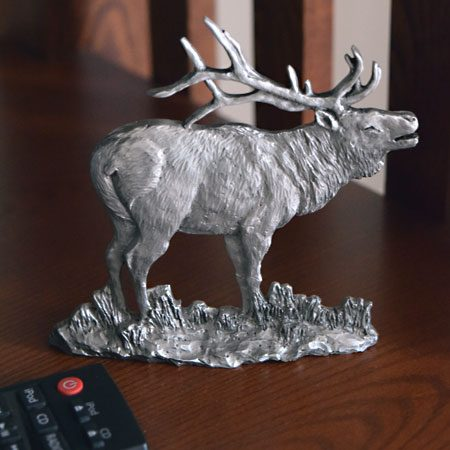 Big Horn Sheep in Pewter Shelf Accent