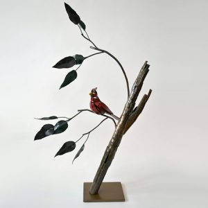 Cardinal steel sculpture