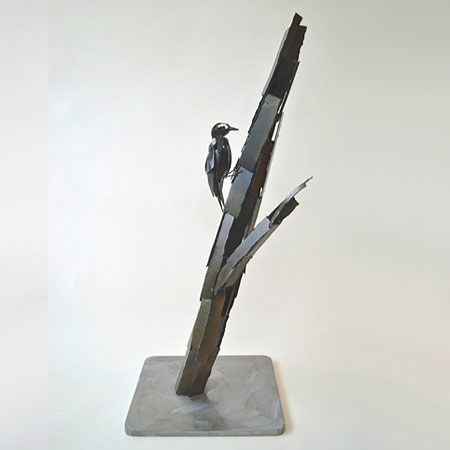 North American Woodpecker Steel Sculpture