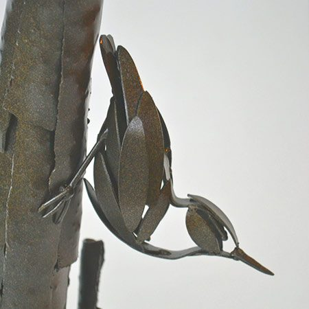 Nuthatch Steel Sculpture