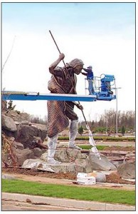Andy's statue is one of many artistic touches to a WA-based casino.