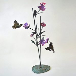 Steel Hummingbirds Sculpture