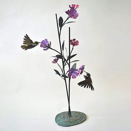 Steel Hummingbirds Sculpture