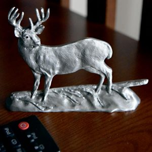 Whitetail pewter deer shelf sitter