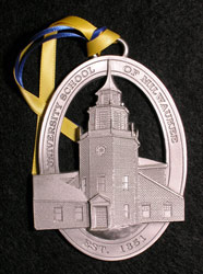 Custom pewter university ornament