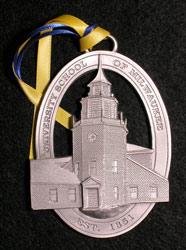 Custom pewter university ornament