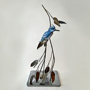Steel Kingfisher Sculpture