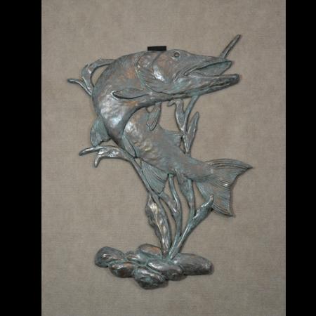 Stone Wall Art wildlife wall art   schumann sculpture - metal sculptures, pewter