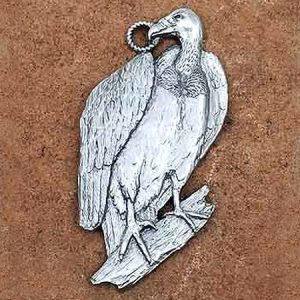 Vulture Ornament in Pewter, Save the Vultures Project