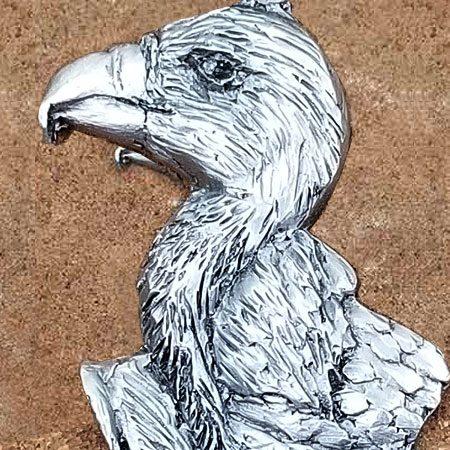 Pewter Vulture Pendant by Schumann Sculpture